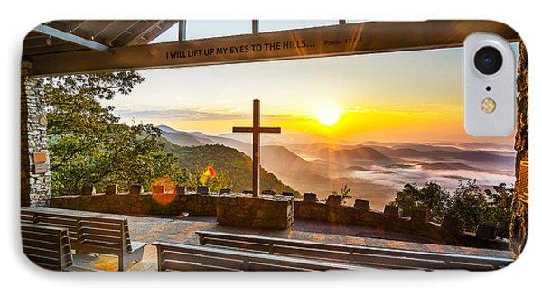 Symmes Chapel Sunrise  IPhone Case by Anthony Heflin
