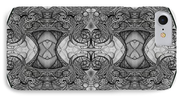 Symmetry  In Black And White IPhone Case by Jack Dillhunt