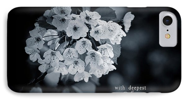 Sympathy Greeting Card IPhone Case by Michele Wright