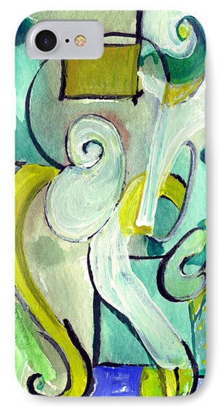 IPhone Case featuring the painting Symphony In Green by Stephen Lucas