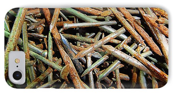 Symphony In Rusty Nails Phone Case by RC deWinter