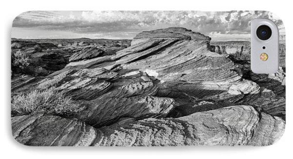 Symphony Of Frozen Waves Horseshoe Bend Page Glen Canyon Arizona - Navajo Nation IPhone Case by Silvio Ligutti