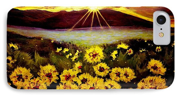 IPhone Case featuring the painting Symphony Of The Sun.. by Cristina Mihailescu