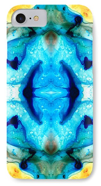 Synchronicity - Colorful Abstract Art By Sharon Cummings IPhone Case