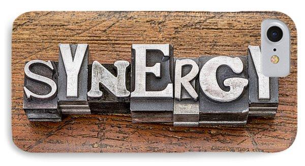 Synergy Word In Metal Type IPhone Case by Marek Uliasz