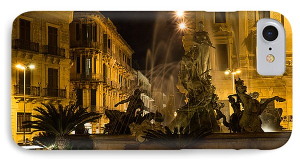 IPhone Case featuring the photograph Syracuse - Diana Fountain  by Georgia Mizuleva