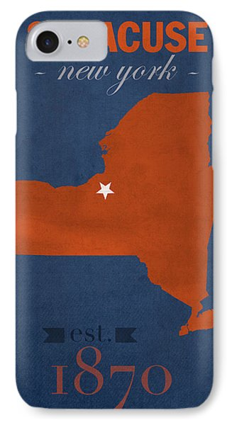 Syracuse University New York Orange College Town State Map Poster Series No 102 IPhone Case