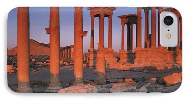 Syria, The Great Tetra Pylon At Palmyra IPhone Case by Steve Roxbury