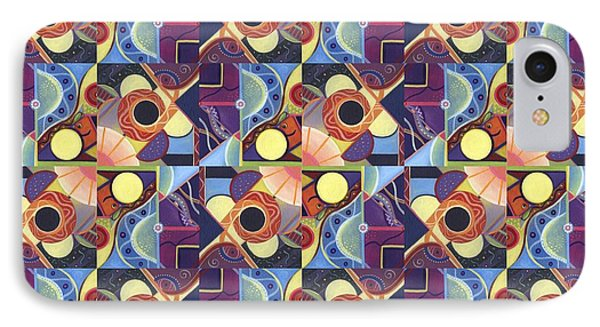 T J O D Tile Variations 11 IPhone Case by Helena Tiainen