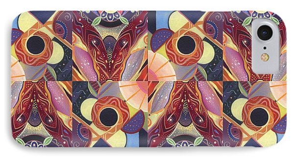 T J O D Tile Variations 12 IPhone Case by Helena Tiainen