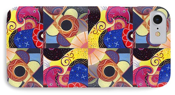 T J O D Tile Variations 14 IPhone Case by Helena Tiainen