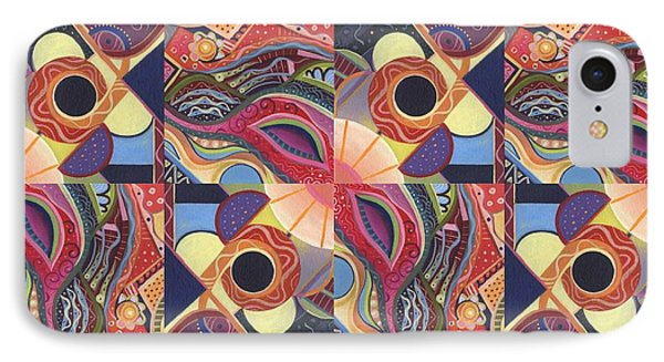 T J O D Tile Variations 15 IPhone Case by Helena Tiainen