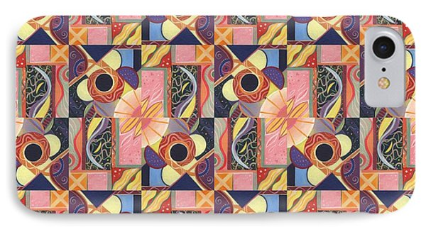 T J O D Tile Variations 16 IPhone Case by Helena Tiainen