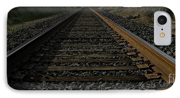 IPhone Case featuring the photograph T Rails by Janice Westerberg