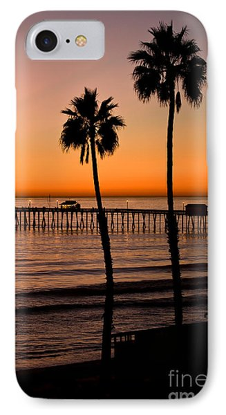 T Street Pier San Clemente California From The Book My Ocean Phone Case by Artist and Photographer Laura Wrede