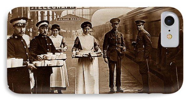 The Red Cross And St. John's Ambulance Brigade During Ww1 England Phone Case by The Keasbury-Gordon Photograph Archive