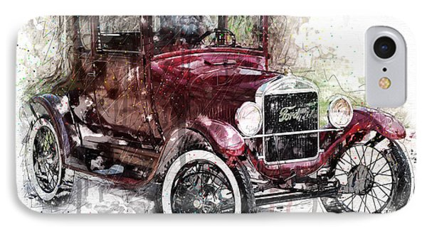 1926 Ford Model T IPhone Case by Gary Bodnar