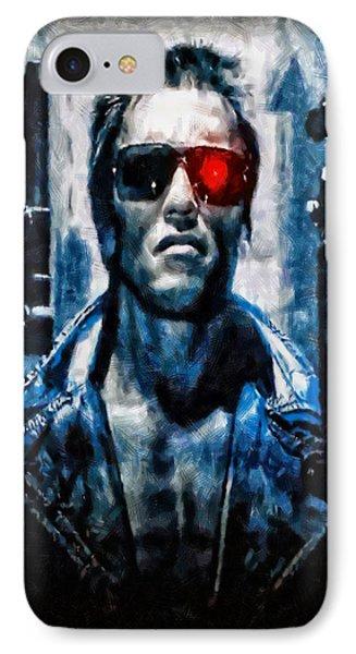 T800 Terminator IPhone Case by Joe Misrasi