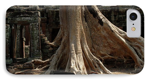 Ta Prohm Cambodia Phone Case by Bob Christopher