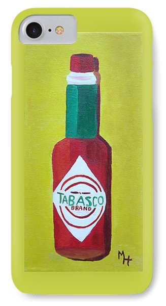 IPhone Case featuring the painting Tabasco Brand Pepper Sauce by Margaret Harmon