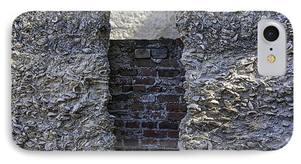 Tabby Wall With Red Brick Infill Phone Case by Lynn Palmer