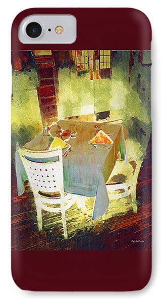 Table At The Fauve Cafe Phone Case by RC deWinter