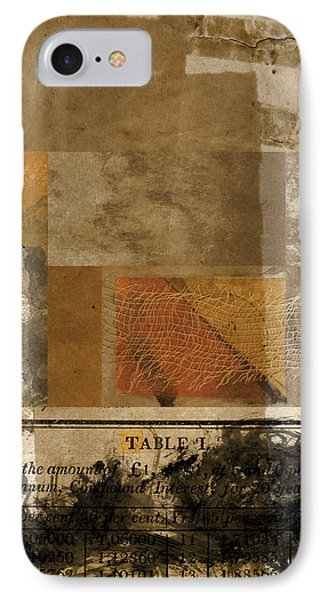 Table I IPhone Case by Carol Leigh