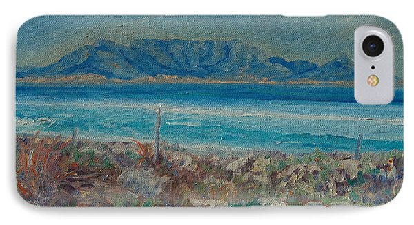 IPhone Case featuring the painting Table Mountain Cape Town by Thomas Bertram POOLE
