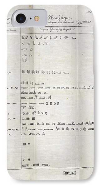 Table On Hieroglyphics Research IPhone Case by British Library