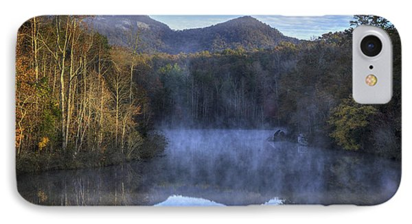 Table Rock Foggy Morning IPhone Case