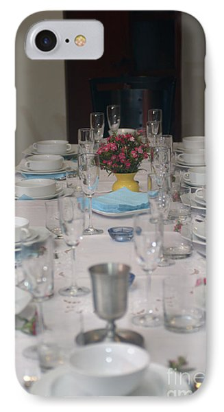 Table Set For A Jewish Festive Meal Phone Case by Ilan Rosen