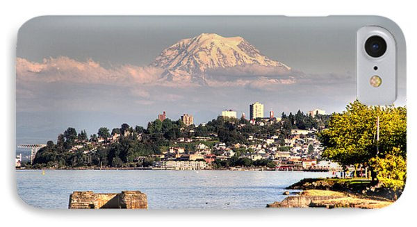 Tacoma City Skyline IPhone Case by Rob Green