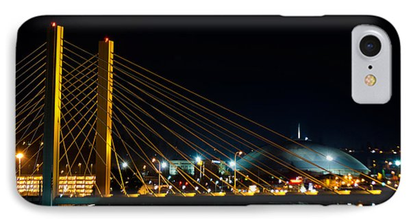 IPhone Case featuring the photograph Tacoma Dome And Bridge by Tikvah's Hope