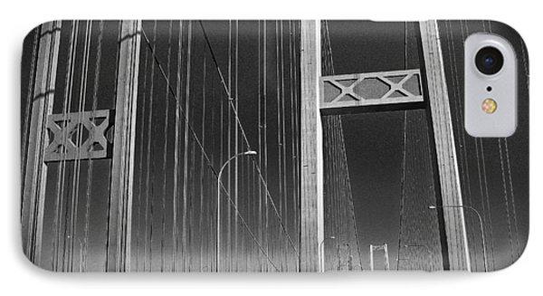 Tacoma Narrows Bridge B W Phone Case by Connie Fox