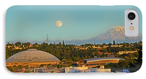 IPhone Case featuring the photograph Tacoma Supermoon by Jack Moskovita