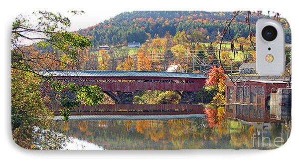 Taftsville Covered Bridge  0190 IPhone Case by Jack Schultz