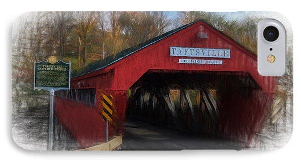 Taftsville Covered Bridge IPhone Case by Sharon Seaward