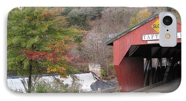Taftsville Covered Bridge Vermont IPhone Case by Barbara McDevitt