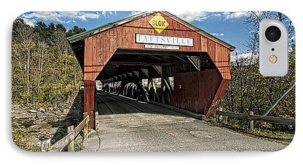 Taftsville Vermont Covered Bridge IPhone Case by Constantine Gregory