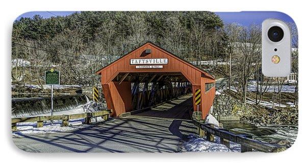 Taftsville Vermont Covered Bridge View 1 IPhone Case by John Supan