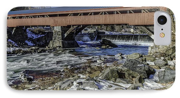 Taftsville Vermont Covered Bridge View 2 IPhone Case by John Supan