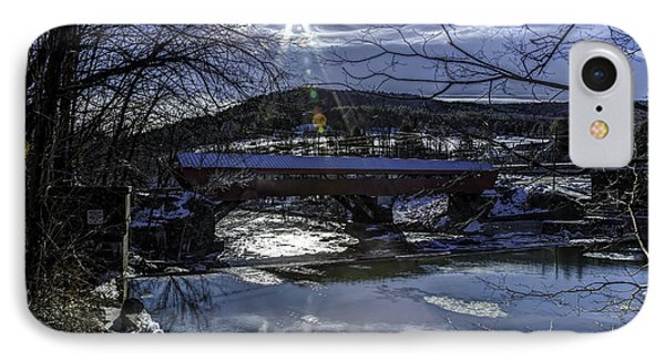 Taftsville Vermont Covered Bridge View 3 IPhone Case by John Supan