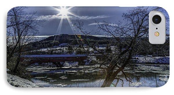 Taftsville Vermont Covered Bridge View 4 IPhone Case by John Supan
