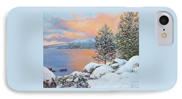Tahoe Winter Colors IPhone Case by Donna Tucker