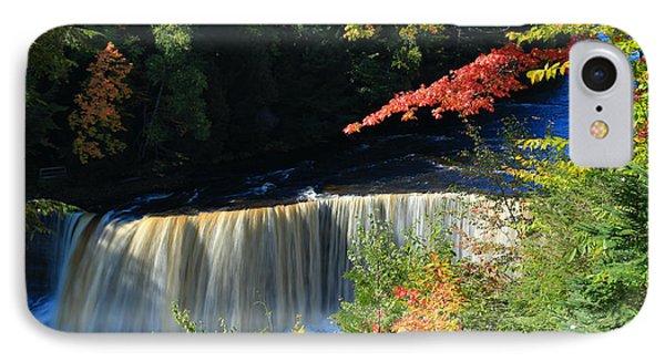 Tahquamenon Falls Autumn IPhone Case by Rachel Cohen