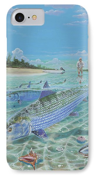 Tailing Bonefish In003 IPhone Case by Carey Chen