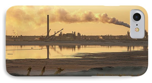 Tailings Pond At A Tar Sands Mine IPhone Case by Ashley Cooper