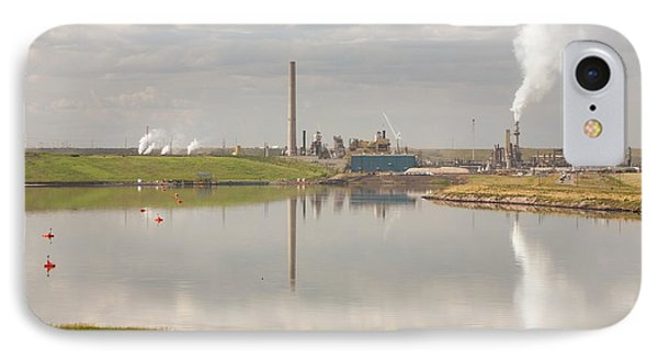 Tailings Pond Syncrude Tar Sands Mine IPhone Case by Ashley Cooper