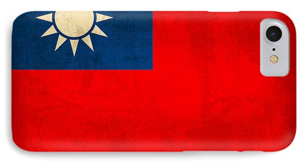 Taiwan Flag Vintage Distressed Finish IPhone Case by Design Turnpike