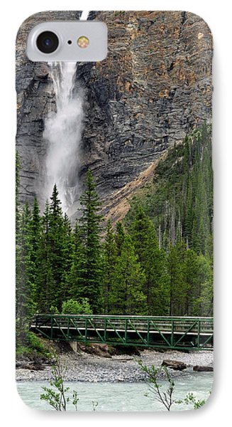 Takakkaw Falls IPhone Case by Lisa Phillips